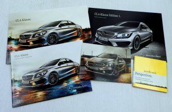 Mercedes Benz CLA-Klasse Baureihe 117 Postkarte 1 Prospekt + 2 Preislisten