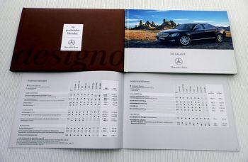 Mercedes Benz S-Klasse Baureihe 221 Prospekt + Design + Preislis