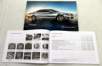 Mercedes Benz S-Klasse Baureihe 222  Prospekt + Preisliste 2014