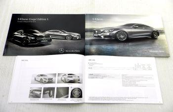 Mercedes Benz S-Klasse Coupe Baureihe 222  Prospekt + 2 Preislis