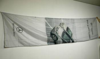 Mercedes Benz Hissfahne groß  für Ausleger ca. 4,40 x 1,20 m A-Klasse