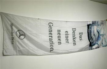 Mercedes Benz Hissfahne groß  für Ausleger ca. 4,20 x 1,20 m A-K