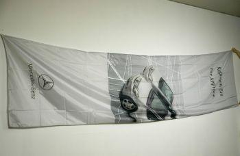 Mercedes Benz Hissfahne groß  für Ausleger ca. 4,50 x 1,20 m A-K