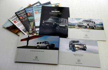 Mercedes Benz G-Klasse Posten Prospekt + Preislisten + Brabus +