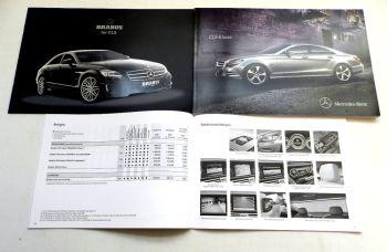 Mercedes Benz CLS-Klasse C218 S218 + Brabus, 2 Prospekte + 1 Pre
