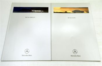 Mercedes Benz CLK + CLK Cabriolet 2 Prospekte 1997/1998