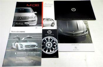 Mercedes Benz C63AMG 3 Prospekte Lorinser Carlsson + Zeitschrift + Preisliste