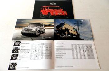Mercedes Benz G-Klasse W463 + Brabus, 2 Prospekte + 2 Preisliste