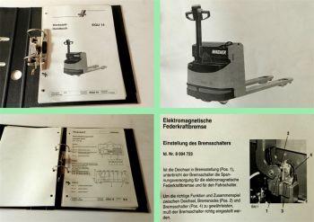 Wagner EGU14 Niederhubwagen Werkstatthandbuch Reparaturhandbuch 05/1995
