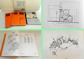 Steinbock Boss QX25D Bedienungsanleitung Ersatzteilliste Perkins 104 1993