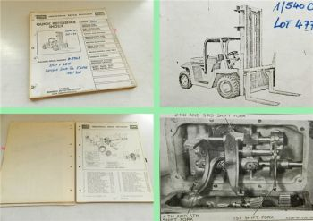 Clark DCFY225 Fork lift truck DAF Parts list book Maintenance users manual 1962