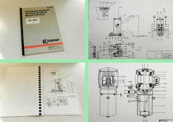 Kalmar BK-BKE 1,0 Behälterkippgerät Bedienungsanleitung Ersatzteilliste 1989