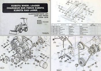 Parts List Kubota R310B R310 Wheel Loader Radlader Ersatzteilliste