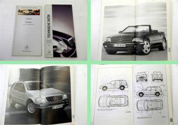 Mercedes Benz Technische Daten 2000 + Preisliste G-Klasse 2001
