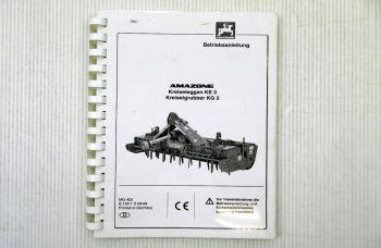Amazone KE 3 Kreiseleggen / KG 2 Kreiselgrubber Betriebsanleitun