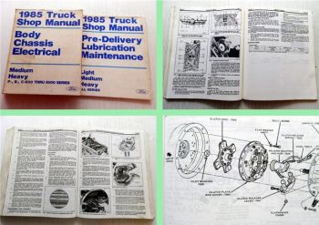 Truck Shop Manual Ford 1985 Body Chassis Electrical Lubrication