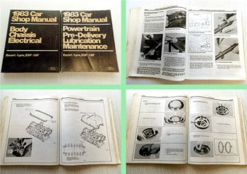 Car Shop Manual Ford 1983 Body Chassis Electrical Lubrication Ma