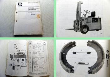 Europa Stapler R14 EFG 1,5/1430 Ersatzteiliste Ersatzteilkatalog parts list 1971