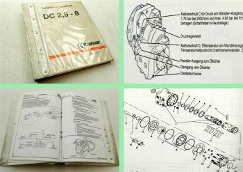 Kalmar DC 2,5-8 Stapler Technisches Handbuch 1992 Aufbau Instandhaltung Elektrik