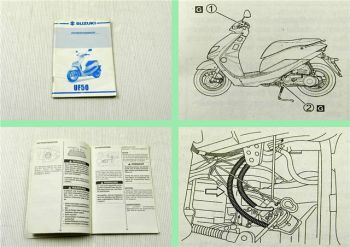 Suzuki UF50 Roller Fahrerhandbuch Bedienungsanleitung Betriebsanleitung 1997