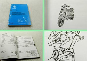 Reparaturanleitung Piaggio Vespa ZIP SP Motorroller Werkstatthandbuch 1996
