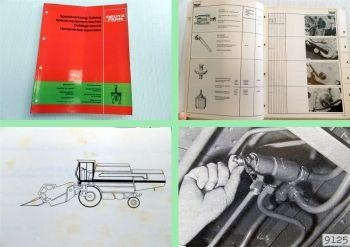 Deutz Mähdrescher Erntemaschinen Spezialwerkzeugkatalog Preisliste 1980