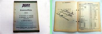 Agria 1647 Messerbalken Mulchbalken Ersatzteilkatalog Ersatzteilliste 1969
