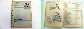 Agria Ersatzteilliste 1647 Messer Mulch Universalbalken Ersatzteilkatalog 1973