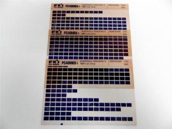 FAI FKI Komatsu PC40MRX-1 Catalogo Ricambi Spare Parts Catalog Microfiche