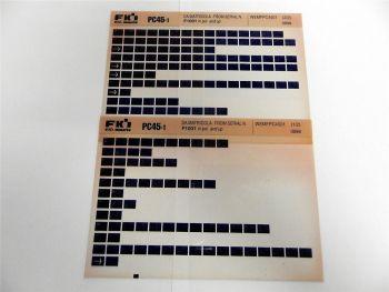 FAI FKI Komatsu PC45-1 Catalogo Ricambi Spare Parts Catalog Microfiche