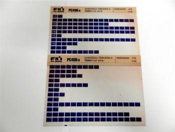 FAI FKI Komatsu PC45R-8 Catalogo Ricambi Spare Parts Catalog Microfiche