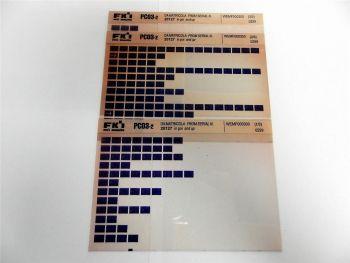FAI FKI Komatsu PC03-2 Catalogo Ricambi Spare Parts Catalog Microfiche