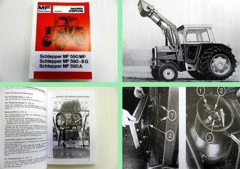 Massey Ferguson MF 590 MP / MF 590-8G / MF590ATraktor Betriebsanleitung