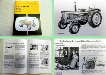 John Deere 1120 Diesel Schlepper Traktor Betriebsanleitung