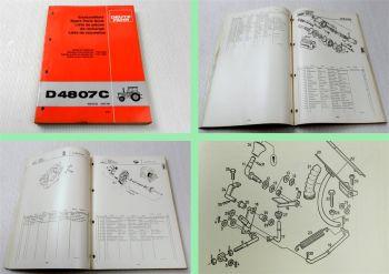 Deutz D 4807C Traktor Ersatzteilliste 1981 Original Ersatzteilkatalog