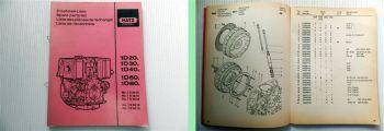 Hatz 1D20 1D30 1D40 1D60 1D80 Dieselmotor Ersatzteilliste 1990