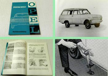 Opel Rekord A Betriebsanleitung Bedienungsanleitung & Wartung 1964