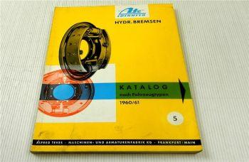 Ate hydraulische Bremsen PKW LKW Ersatzteilkatalog Ersatzteilliste 1960/61