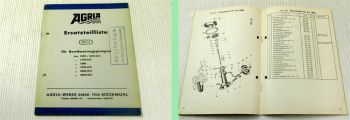 Agria Ersatzteilliste Ersatzteilkatalog 001/3 für Bewässerungspumpen 1969