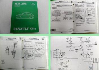 Renault Clio Wegfahrsperre Servokupplung Schaltpläne Werkstatthandbuch 1996