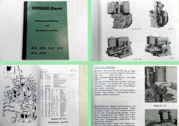 Farymann A12 A14 A22 A24 A32 A42  Bedienungsanleitung Ersatzteilliste