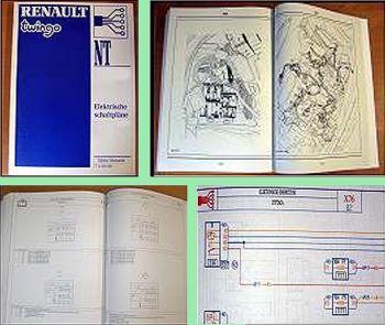Werkstatthandbuch Renault Twingo Modelljahr 1998 elektrische Schaltpläne