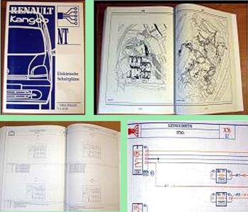 Reparatur Renault Kangoo X76 03.04.2000 elektrik Schaltpläne Werkstatthandbuch