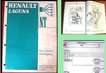 Werkstatthandbuch Renault Laguna X74 Modelljahr 2001 Elektrische Schaltpläne