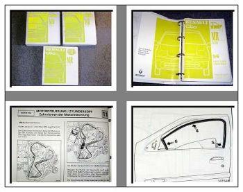 Renault Clio II BB0A CB0A Werkstatthandbuch 1997-1999  in 3 Bände