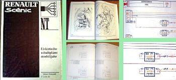 Werkstatthandbuch Renault Scenic Modelljahr 2000 Elektrische Schaltpläne