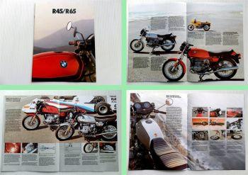 BMW R45 R65 Prospekt 1979 Fahrzeuginformationen Technische Daten
