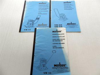 Weber VB 35 + VB 45 Bedienungsanleitung + Ersatzteilliste