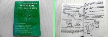 Honda G150K1 G200K1 GK200K2 Motor Betriebsanleitung Owner Manual 1998