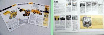 CAT Caterpillar Radlader 916 Industrielader IT18B 3 Prospekte Beschreibung